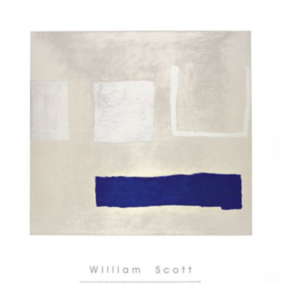White and Blue, c.1960 Serigraph by William Scott