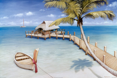 Palm View Print by David Marrocco
