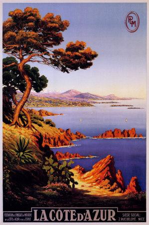 Azurové pobřeží – Côte d'Azur Plakát