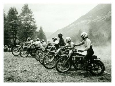 Bultaco Motocross Starting Gate Giclee Print