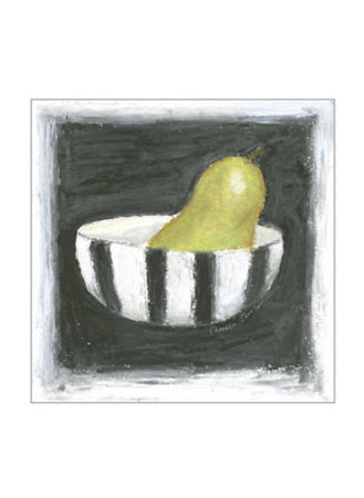 Pear in Bowl Posters by Chariklia Zarris