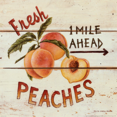 Fresh Peaches Kunsttryk