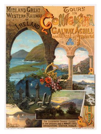 Tour Ireland Connemira Mgw Railway Giclee Print by Hugo D'Alesi