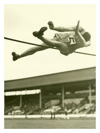 Track and Field, High Jump Giclee Print