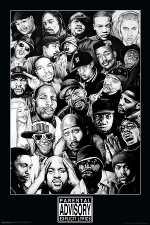 Rap Gods P  243 sterWest Coast Rappers Poster