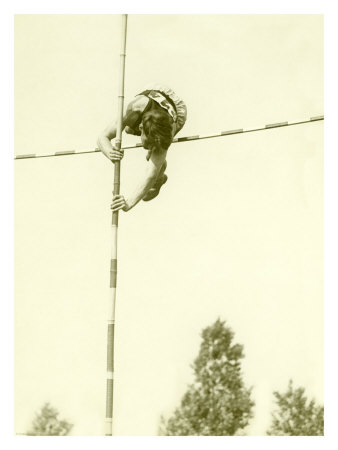 Track and Field, Pole Vault Giclee Print