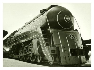 Deco Train Engine Giclee Print