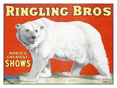 Ringling Brothers: Polar Bear Giclee Print