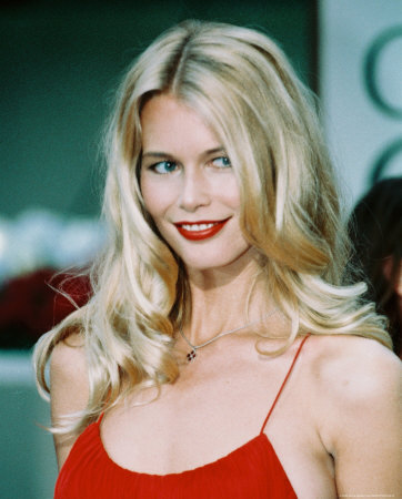 Claudia Schiffer in a Medium Hair Do