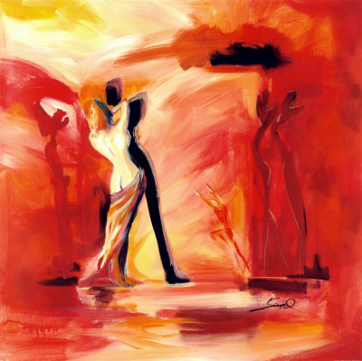 Romance in Red II Kunsttryk