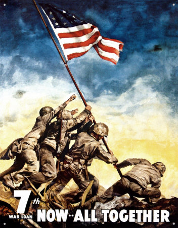 War Bonds Iwo Jima Tin Sign