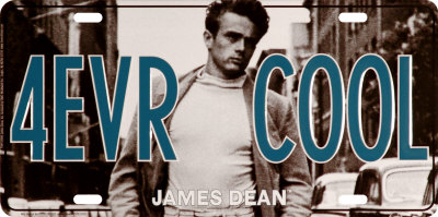 James Dean, matrícula 4EVR COOL Cartel de chapa