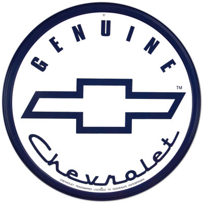 Genuine Chevrolet Plaque en métal