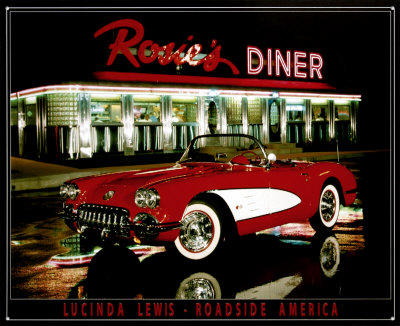 Rosie's Diner Tin Sign by Lucinda Lewis