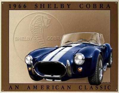 Shelby Cobra Tin Sign