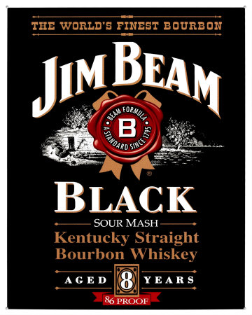 Jim Beam Black Label Tin Sign