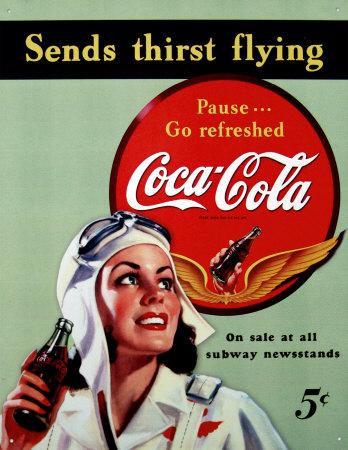 vintage coca cola tin signs on sale. Black Bedroom Furniture Sets. Home Design Ideas