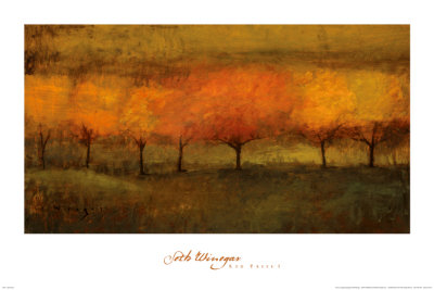 Red Trees I Prints by Seth Winegar