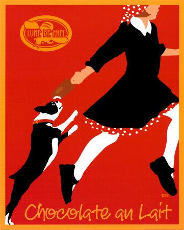 Flødechokolade, på fransk Poster af Johanna Kriesel