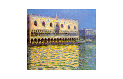 Venice, the Doge Palace Giclee Print by Claude Monet