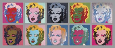 10 Marilyn-billeder, 1967 Kunsttryk