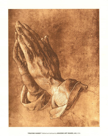 pictures of hands praying. Praying Hands Art Print
