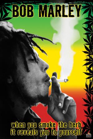 Bob Marley - Smoke the Herb Man! Prints