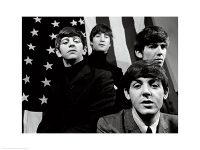 The Beatles, American Flag Art Print