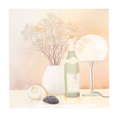 Still Life with White Lamp Prints by Heinz Hock