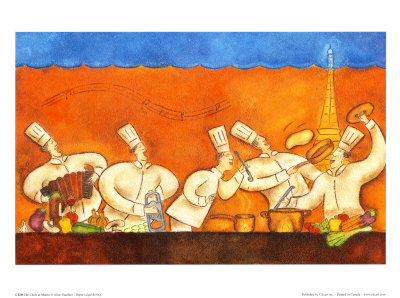 The Chefs at Martin Prints by Aline Gauthier