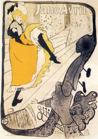 Jane Avril Prints by Henri de Toulouse-Lautrec