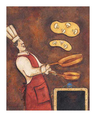 The Omelette Chef Poster by Aline Gauthier