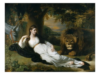 Mary Hall in the Character of Una Premium Giclee Print by Benjamin West