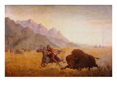 The Buffalo Hunter Premium Giclee Print by Seth Eastman