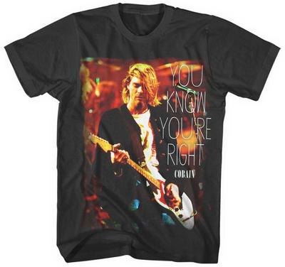 Kurt Cobain- You Know You'Re Right Shirts