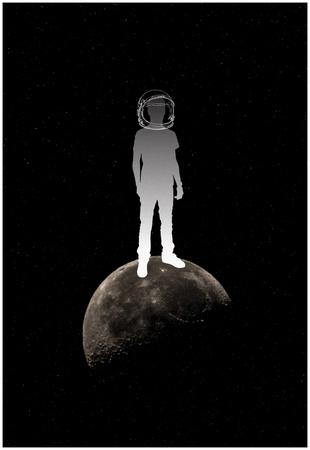 Kid On The Moon Prints