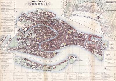 Nuova Pianta Di Venezia- Vintage Map Of Venice Posters