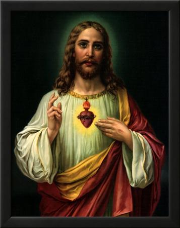 Sacred Heart of Jesus Prints by  Zabateri