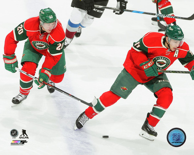 NHL: Ryan Suter & Zach Parise 2016-17 Action Photo