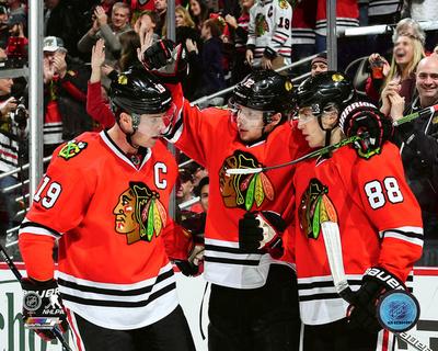 NHL: Jonathan Toews , Artemi Panarin, & Patrick Kane 2016-17 Action Photo