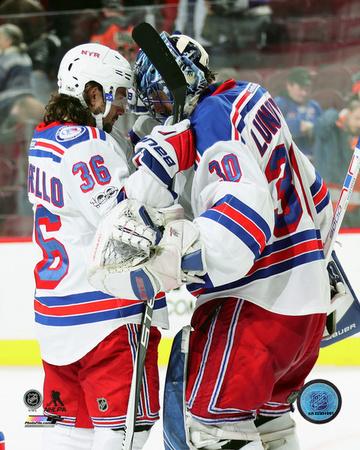 NHL: Mats Zuccarello & Henrik Lundqvist 2016-17 Action Photo