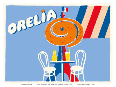 Orelia (Orangina) Beverage - Eifel Tower, Paris Posters by Bernard Villemot