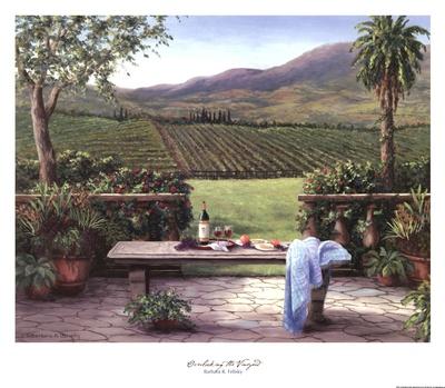 Overlooking the Vineyard Print by Barbara Felisky