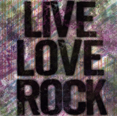 Live Love Rock Affischer av Louise Carey