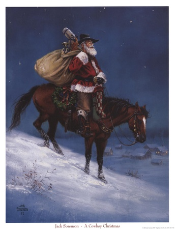 Cowboy Christmas Posters by Jack Sorenson