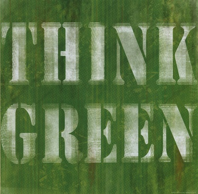 Think Green Affischer av Louise Carey
