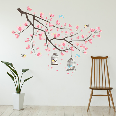 Cherry Blossom Branch Wandtattoo