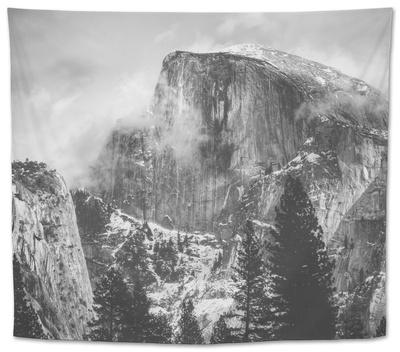 Misty Half Dome at Yosemite, California Tapestry by Vincent James