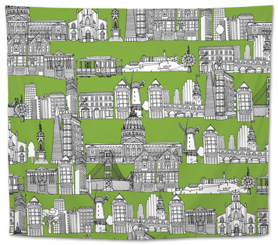 San Francisco Green Tapestry by Sharon Turner