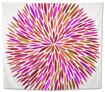 Burst in Pink Palette Tapestry by Cat Coquillette